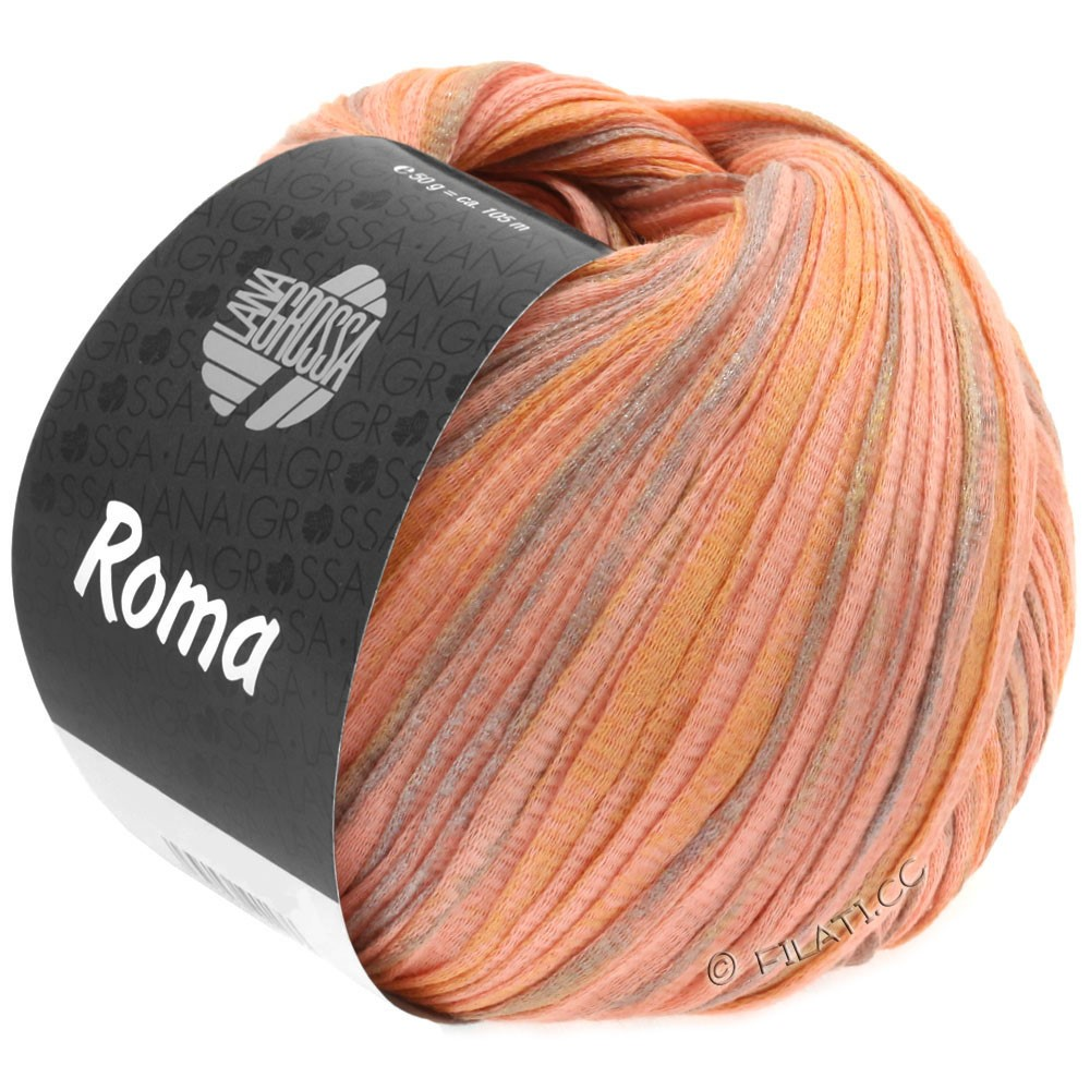 Lana Grossa ROMA   030-zalm/goud/zilver