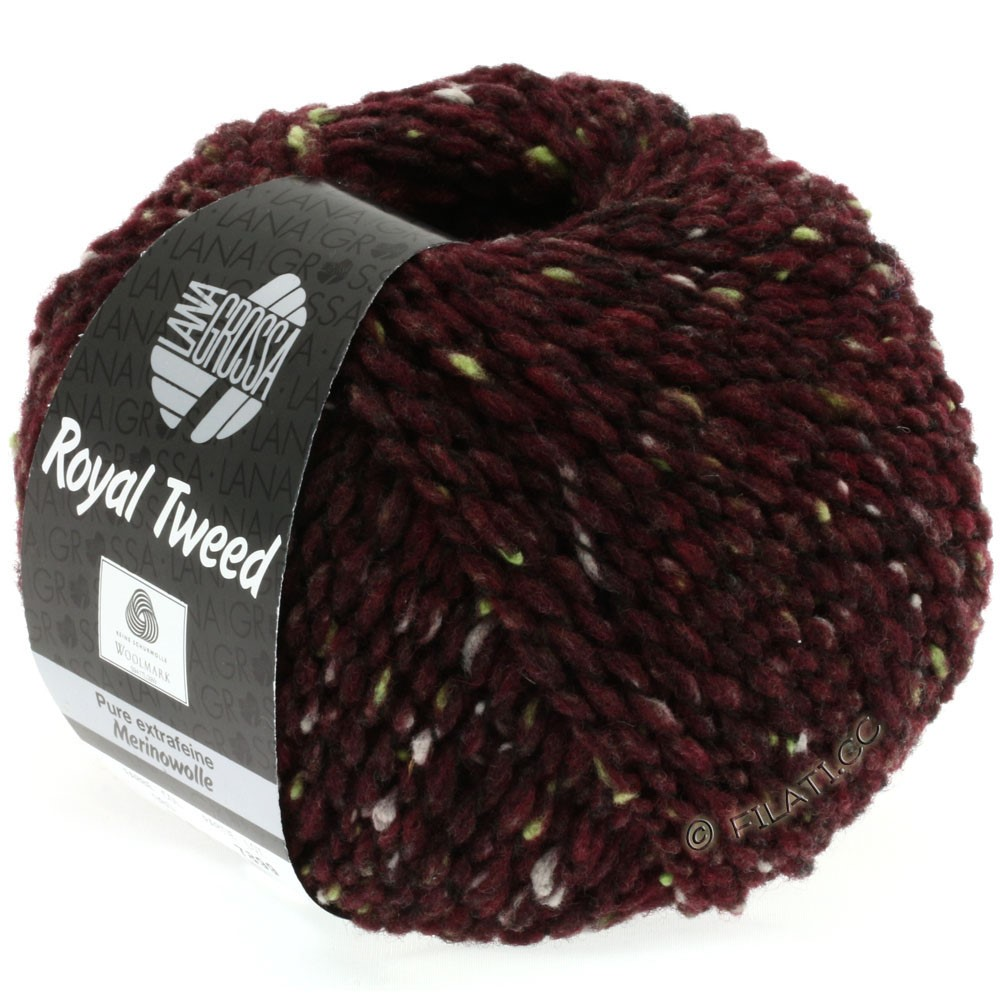 Lana Grossa ROYAL TWEED | 71-bourgondisch gemêleerd