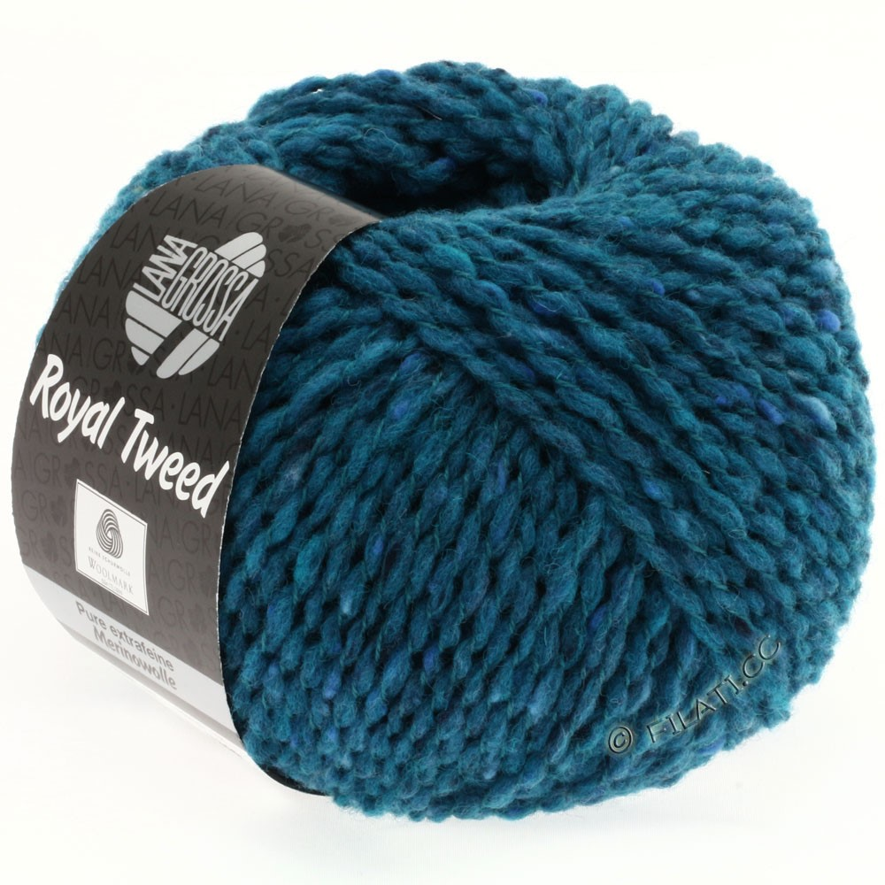 Lana Grossa ROYAL TWEED | 77-petrol blauw gemêleerd