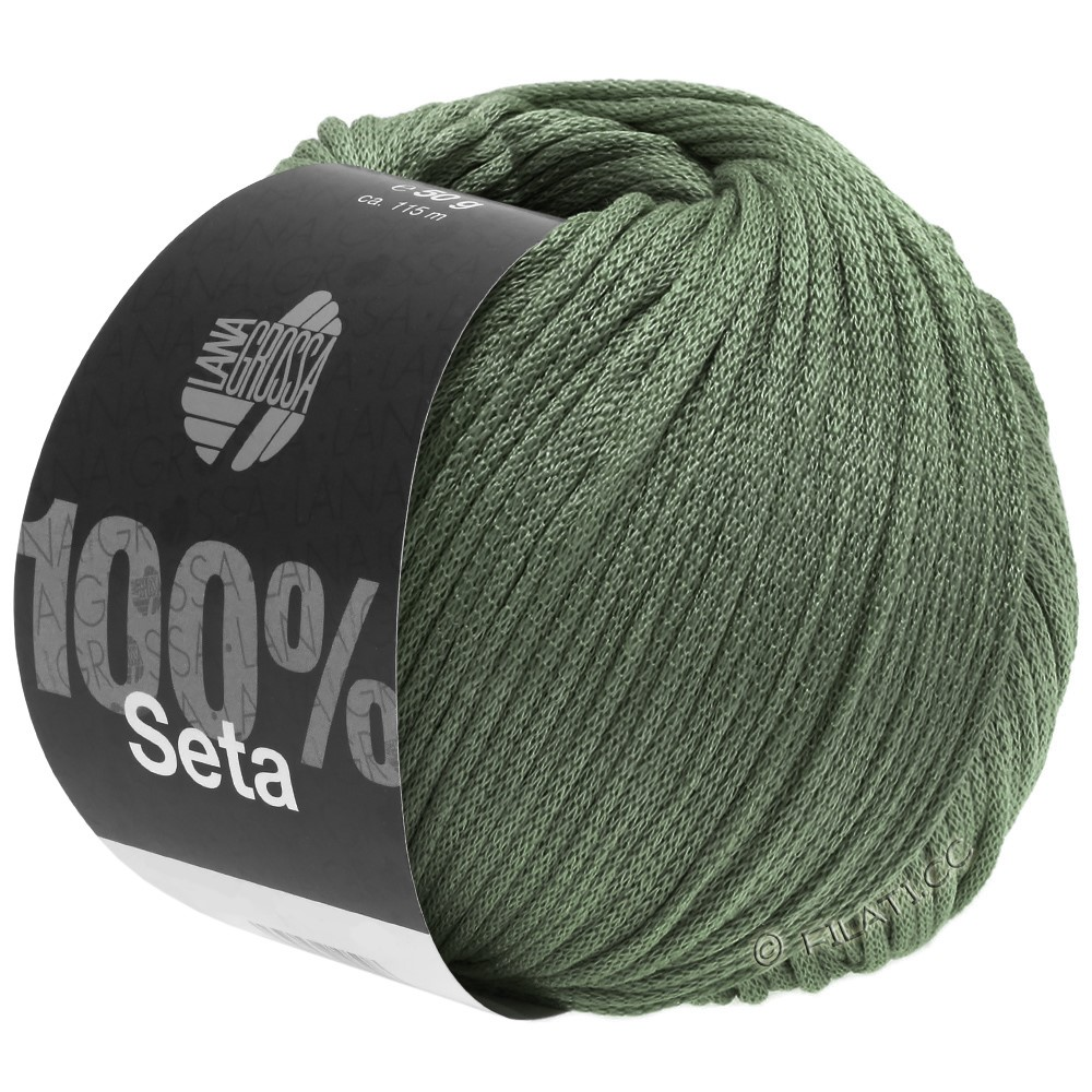 Lana Grossa SETA   13-grijs groen