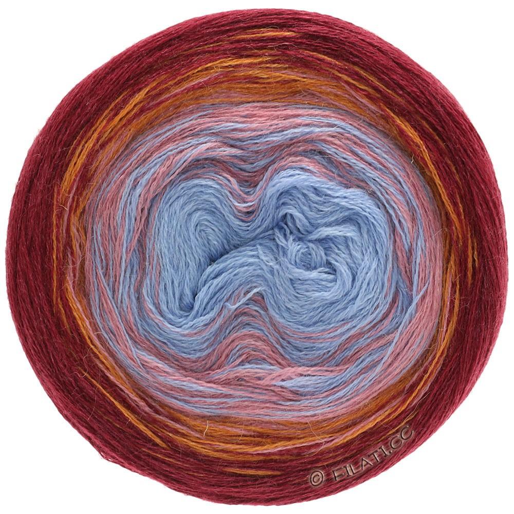 Lana Grossa SHADES OF ALPACA SILK | 301-bordeaux/oranje/beigeroze/blauw