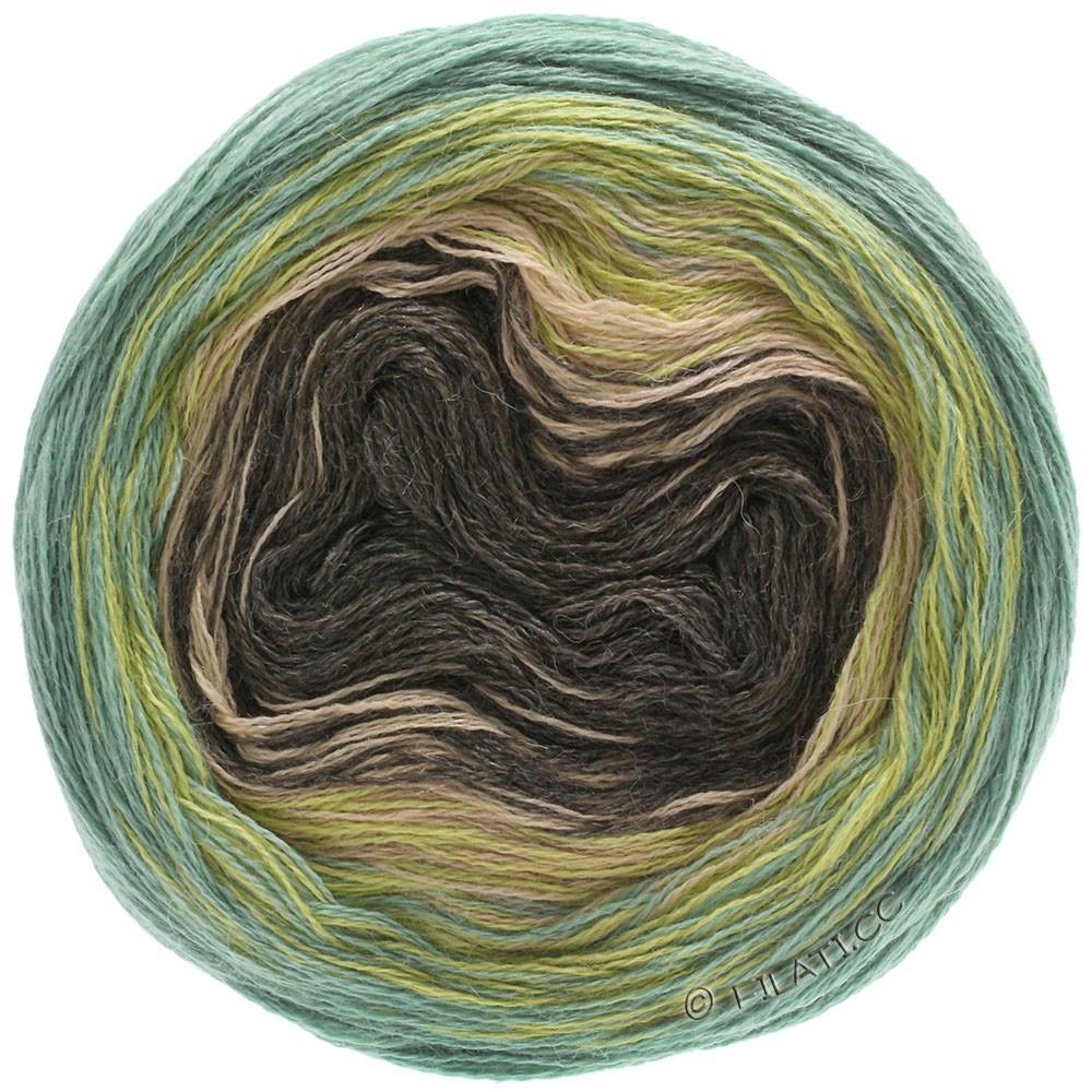 Lana Grossa SHADES OF ALPACA SILK | 305-mosterd/groen/beige/mokka