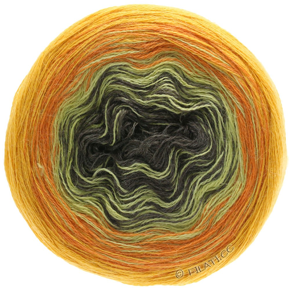 Lana Grossa SHADES OF ALPACA SILK | 308-zonnegeel/oranje/mosterd/mokka