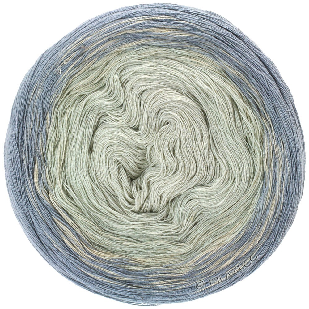 Lana Grossa SHADES OF COTTON LINEN | 708-grijs/licht grijs/ruwe witte/natuur