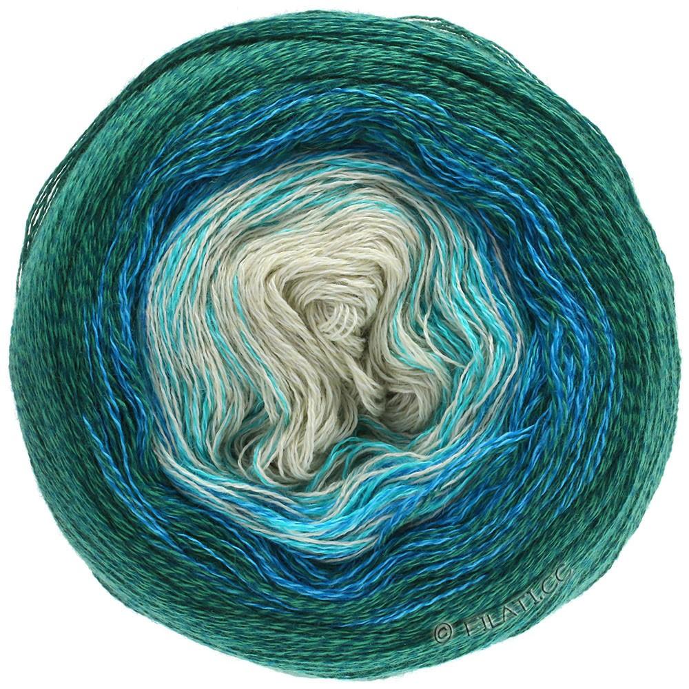 Lana Grossa SHADES OF MERINO COTTON | 401-mintgroen/turkoois/royaal blauw/smaragd