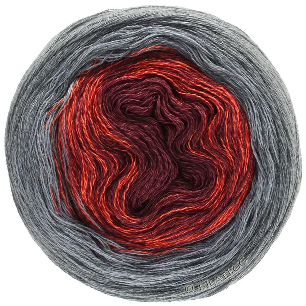 Lana Grossa SHADES OF MERINO COTTON | 405-donker rood/licht rood/grijs/donker grijs