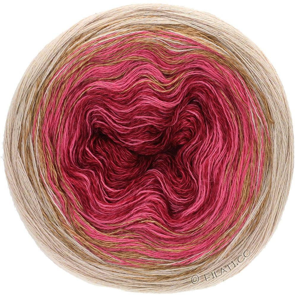 Lana Grossa SHADES OF MERINO COTTON | 407-bourgondisch/licht rood/grijs beige/taupe