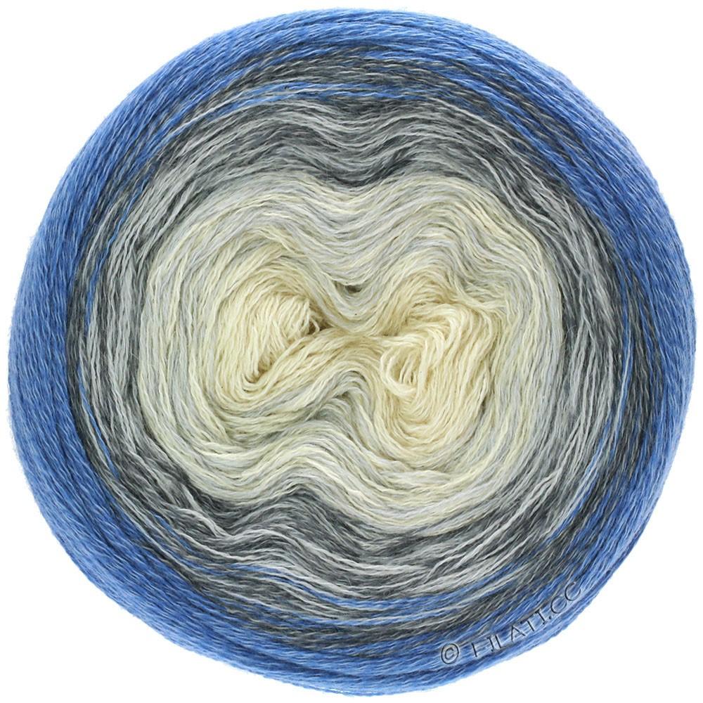 Lana Grossa SHADES OF MERINO COTTON   408-wit/zilvergrijs/grijs/donker grijs/antraciet