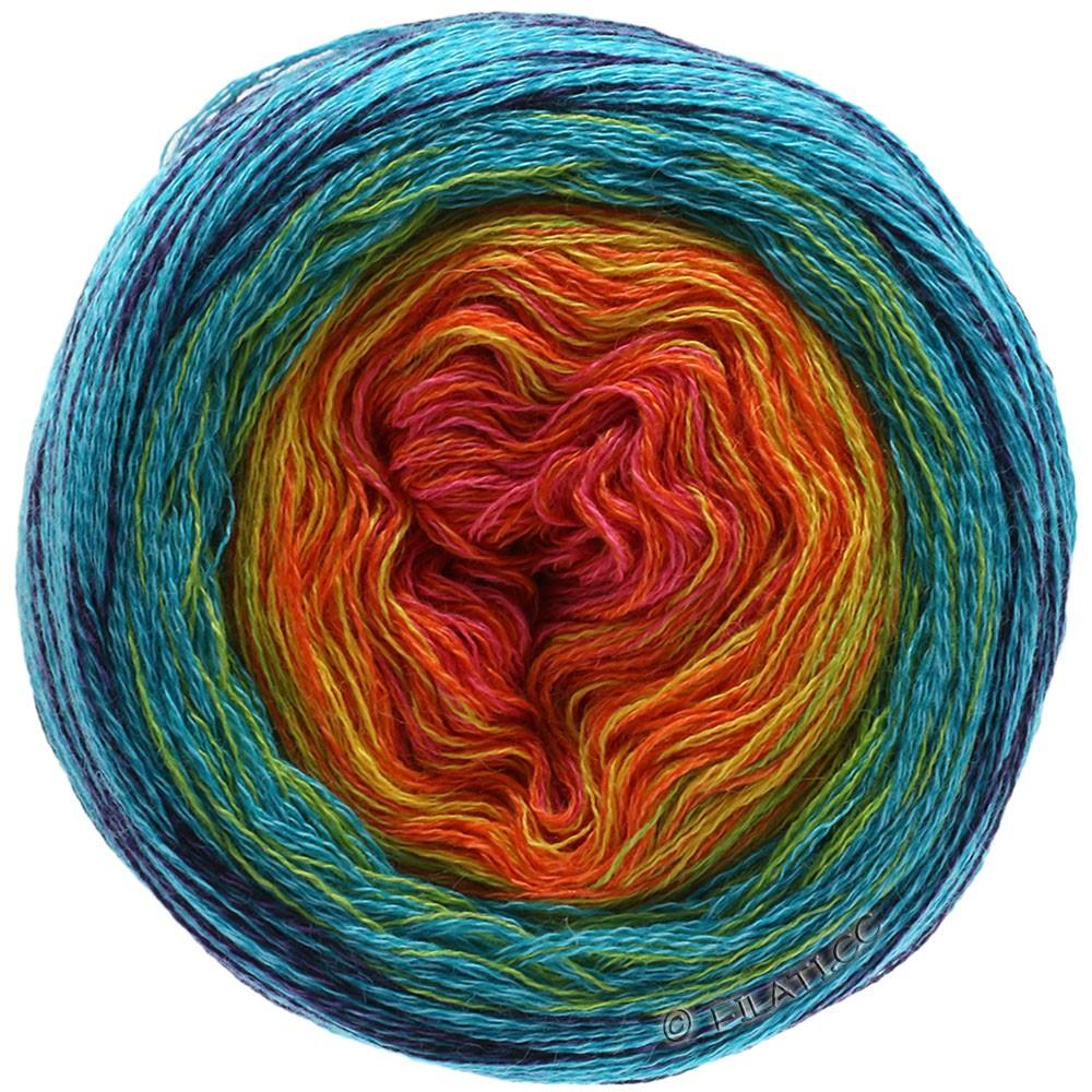 Lana Grossa SHADES OF MERINO COTTON | 601-terracotta /oranje/geel/turkoois/marine