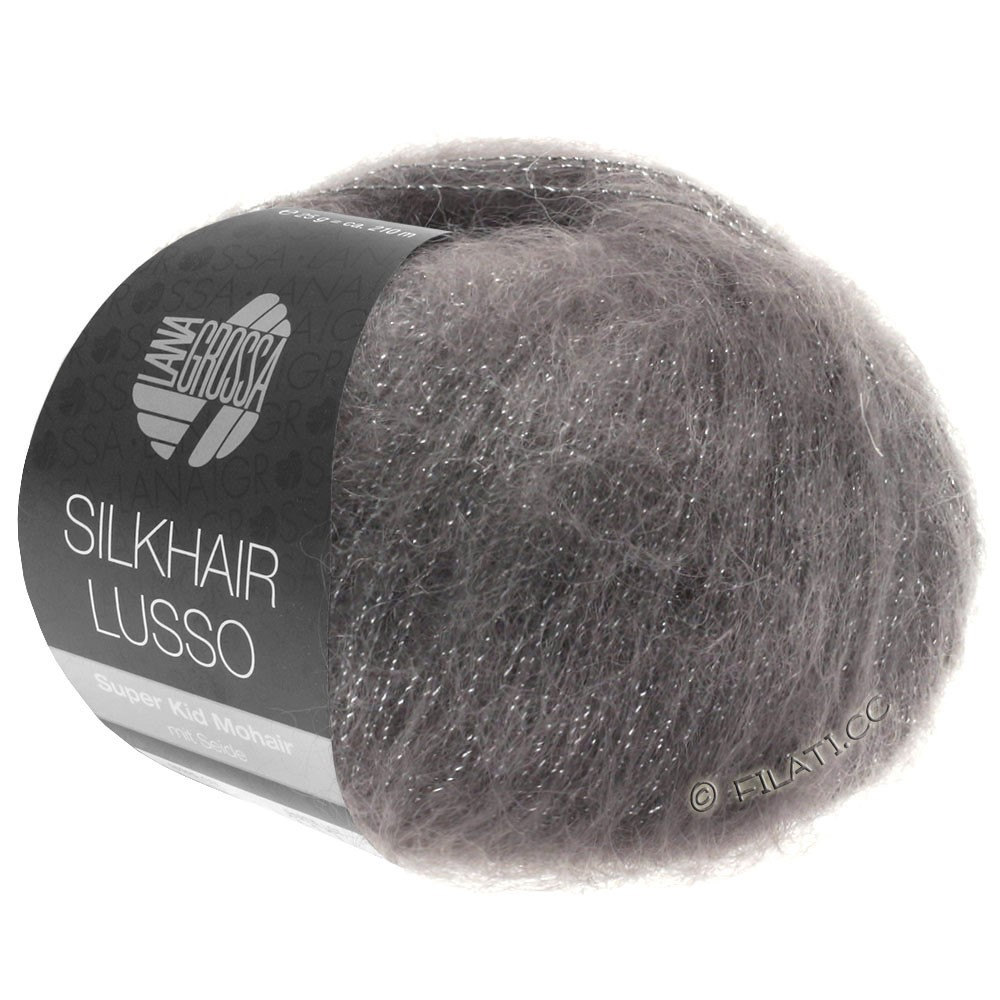 Lana Grossa SILKHAIR Lusso   906-grafiet