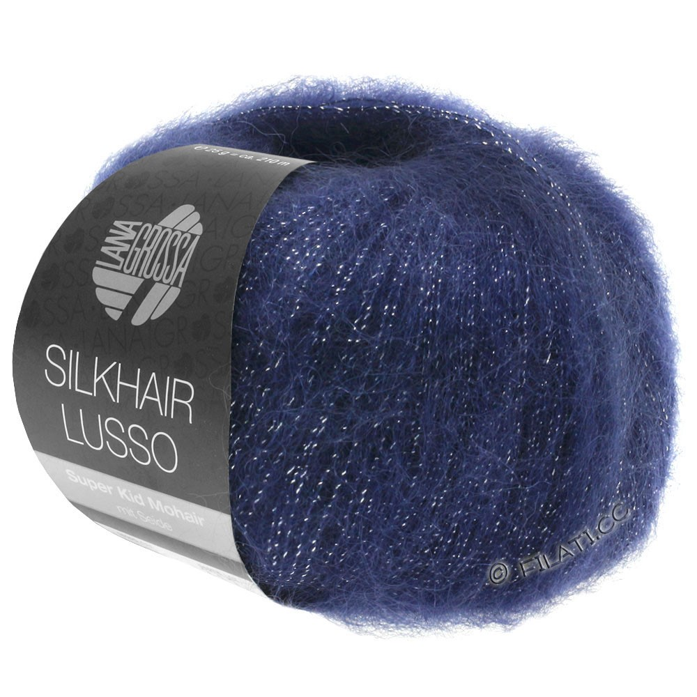 Lana Grossa SILKHAIR Lusso   907-donker blauw
