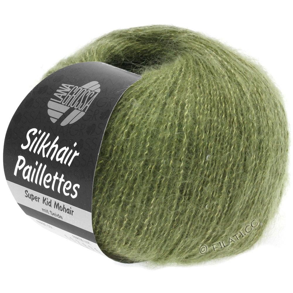 Lana Grossa SILKHAIR Paillettes | 411-kakigroen