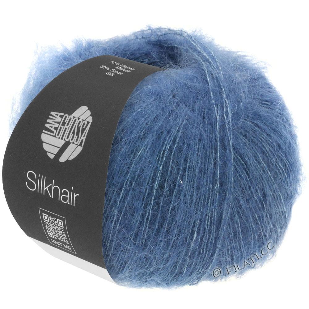 Lana Grossa SILKHAIR  Uni/Melange | 079-donker blauw