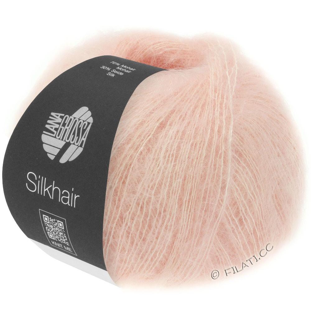 Lana Grossa SILKHAIR  Uni/Melange | 086-poeder roze