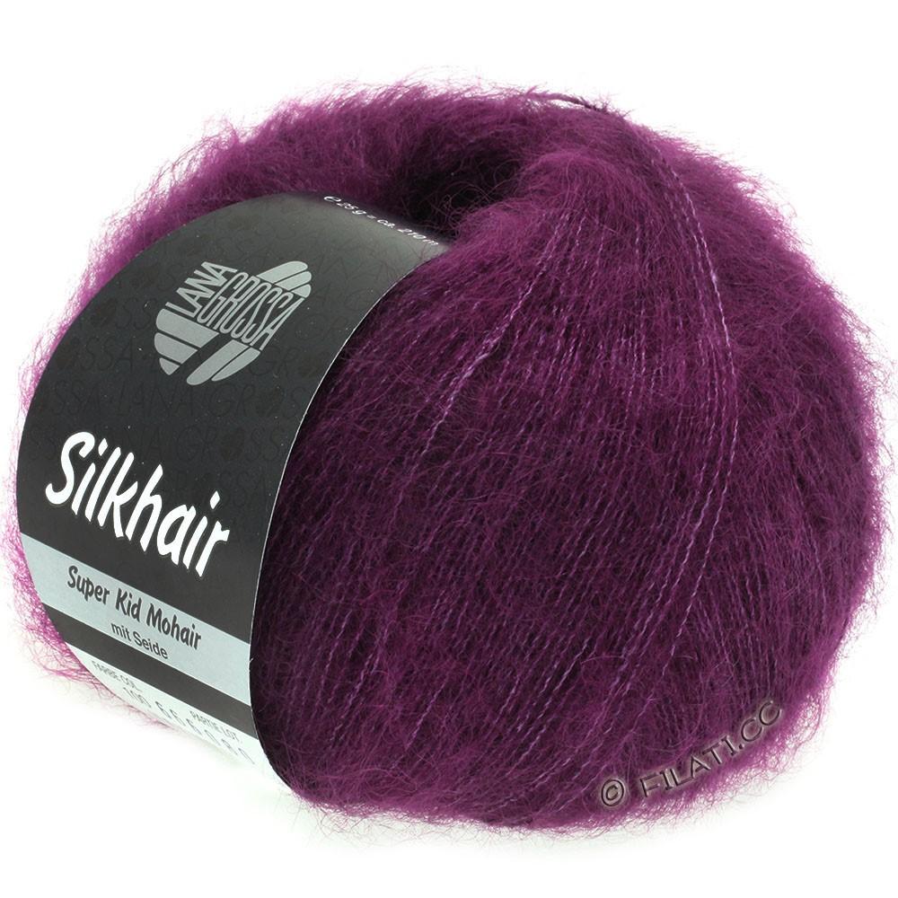 Lana Grossa SILKHAIR  Uni/Melange | 100-rood violet
