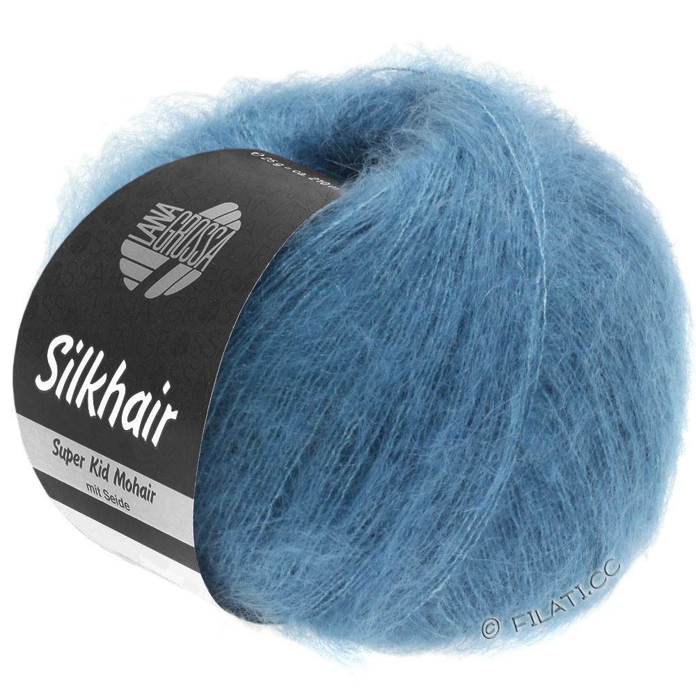 Lana Grossa SILKHAIR  Uni/Melange | 103-jeans blauw
