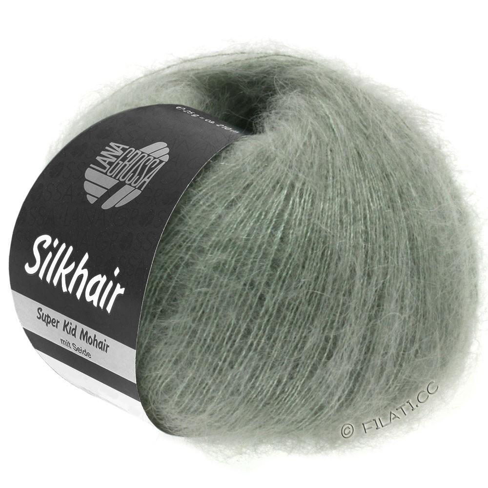 Lana Grossa SILKHAIR  Uni/Melange | 105-grijs groen