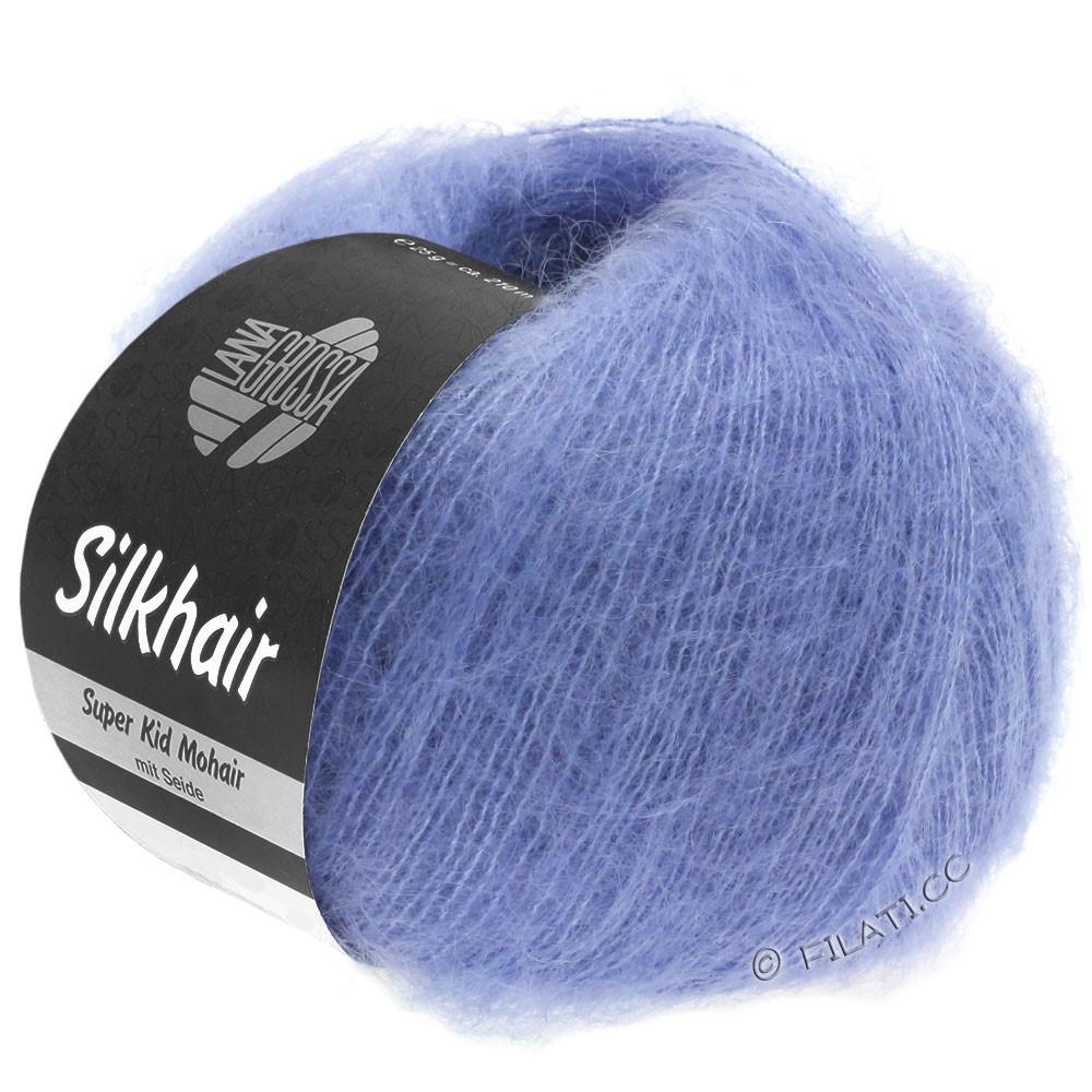 Lana Grossa SILKHAIR  Uni/Melange | 116-shiner blauw