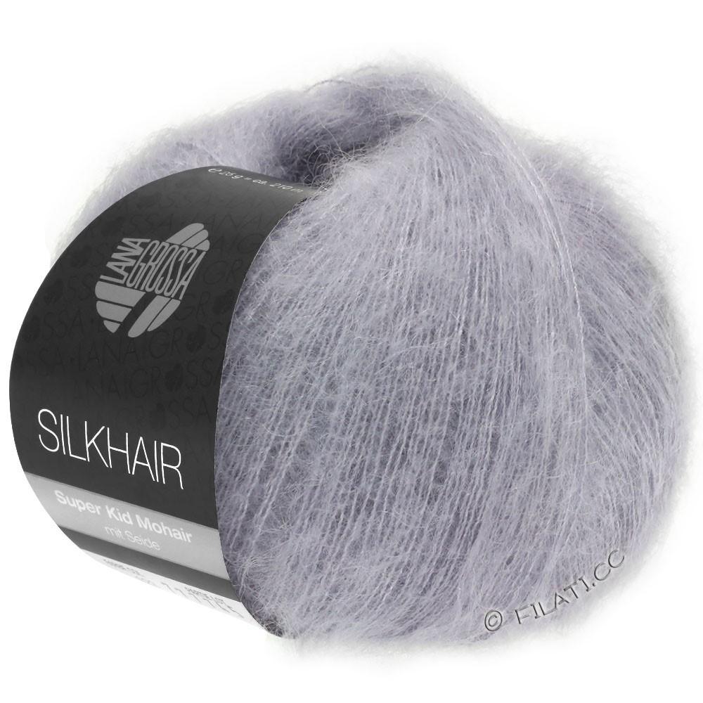 Lana Grossa SILKHAIR  Uni/Melange | 119-grijs paars