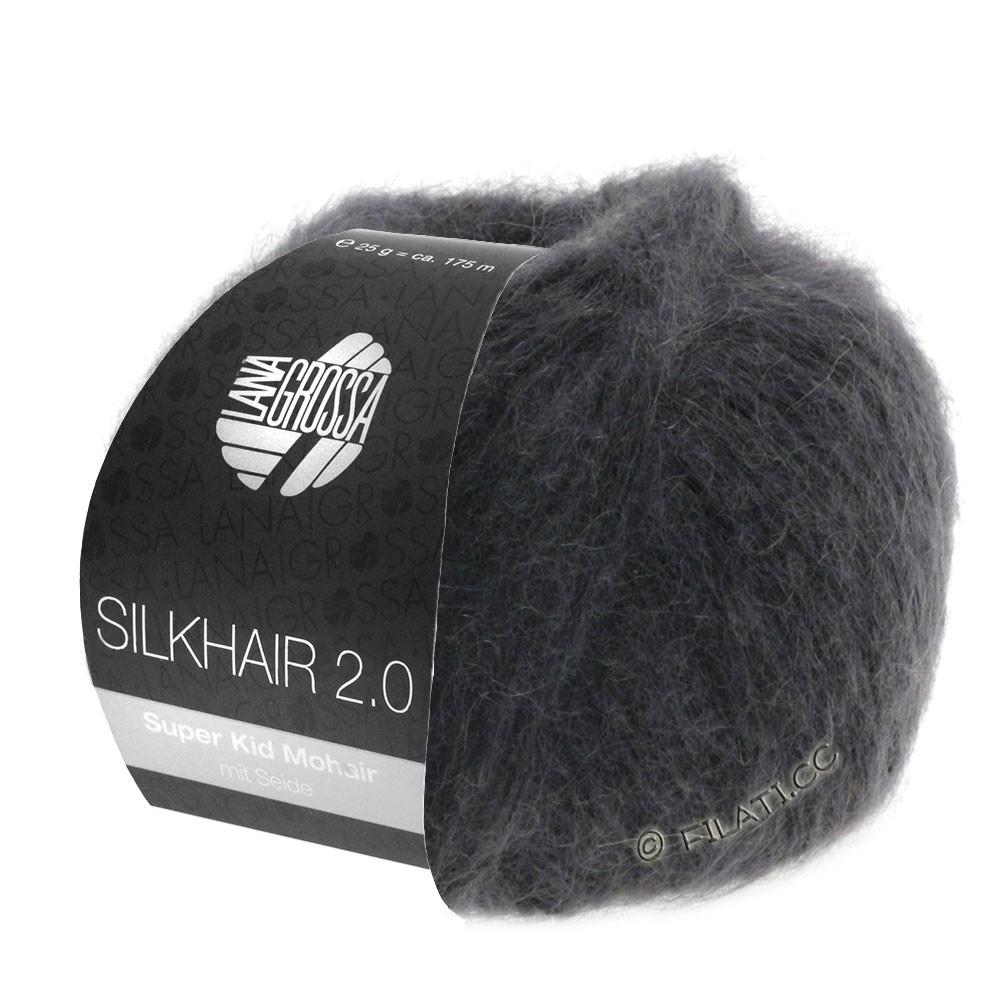 Lana Grossa SILKHAIR 2.0 | 01-antraciet