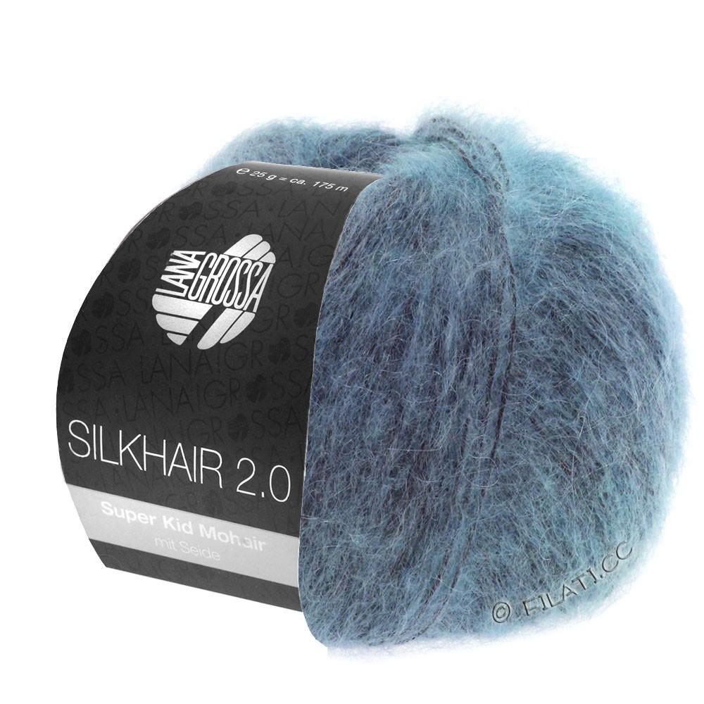 Lana Grossa SILKHAIR 2.0 | 10-grijs blauw
