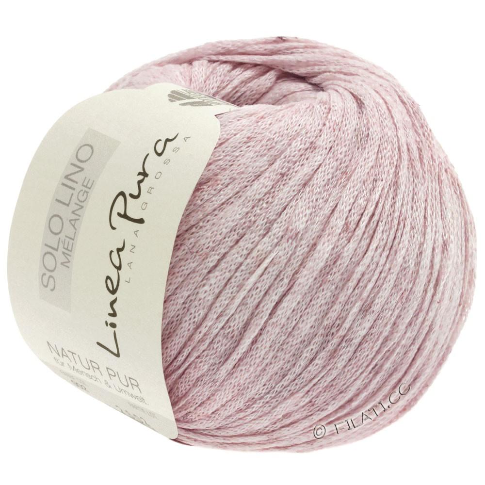 Lana Grossa SOLO LINO MELANGE (Linea Pura) | 106-rosé gemêleerd