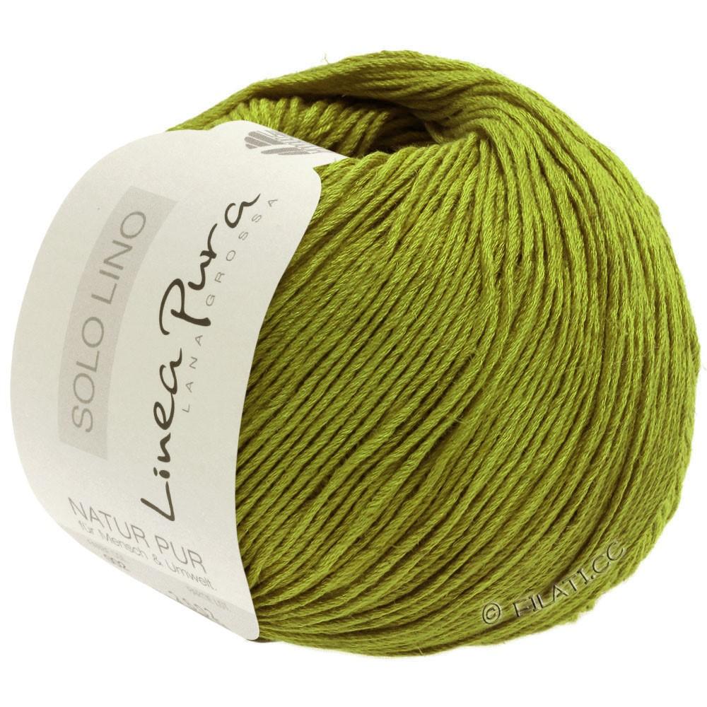 Lana Grossa SOLO LINO (Linea Pura) | 06-olijf groen