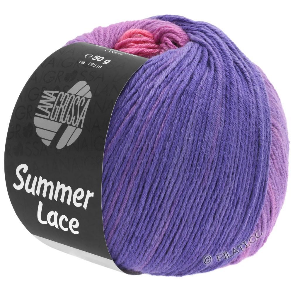 Lana Grossa SUMMER LACE DEGRADÉ | 102-rose/sering/paars/blauw violet