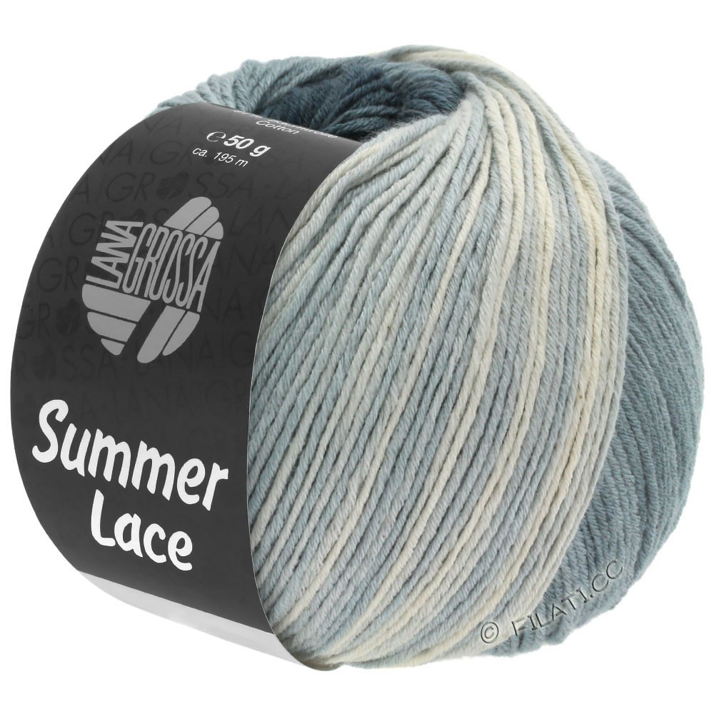 Lana Grossa SUMMER LACE DEGRADÉ | 110-natuur/middelen grijs/donker grijs/antraciet