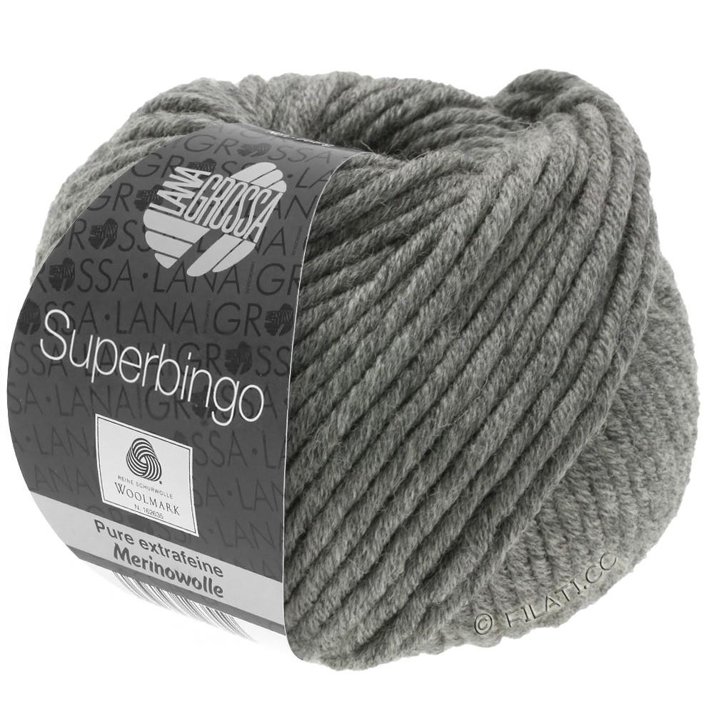 Lana Grossa SUPERBINGO | 025-donker grijs gemêleerd