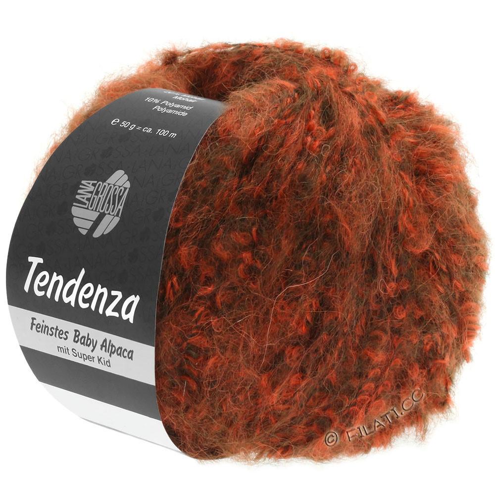 Lana Grossa TENDENZA | 006-donker bruin/oranje