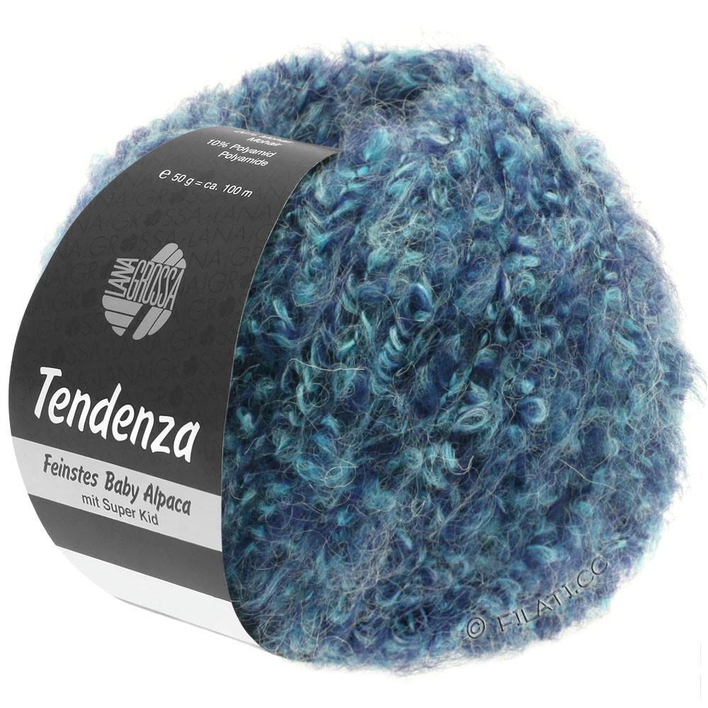 Lana Grossa TENDENZA | 009-blauw paars/munt