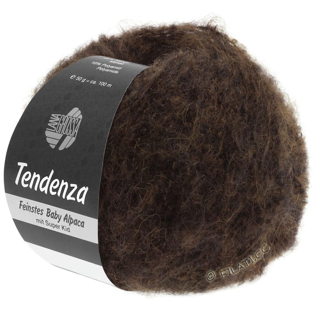Lana Grossa TENDENZA | 012-donker bruin/zwart
