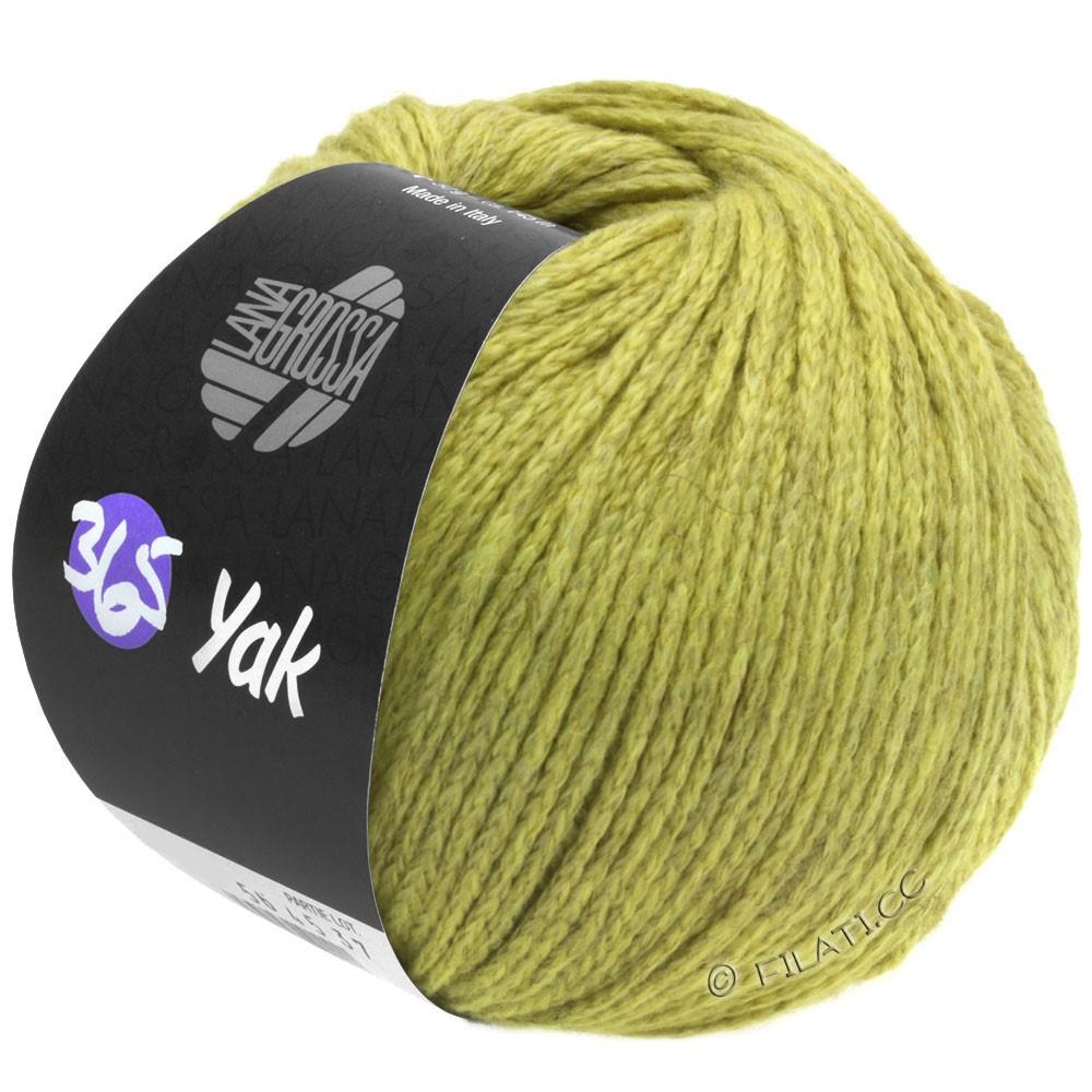 Lana Grossa 365 YAK   05-geelgroen/licht grijs