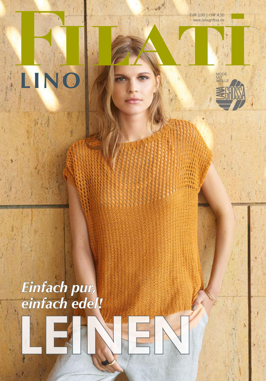 Lana Grossa FILATI Lino Uitgave 1 - Tijdschrift (DE) + Breibeschrijvingen (NL)