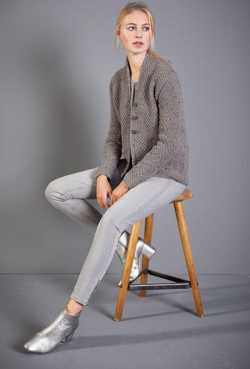 Lana Grossa VEST Royal Tweed