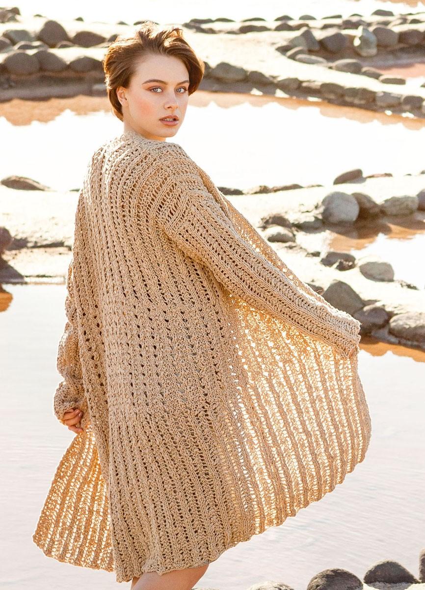 Lana Grossa LANG VEST IN GAATJESBOORDPATROON Cotton Style