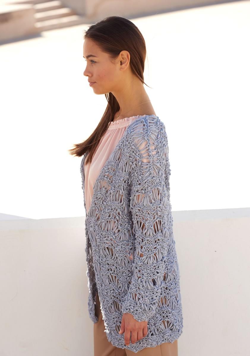 Lana Grossa VEST IN GOLFPATROON Cotton Style