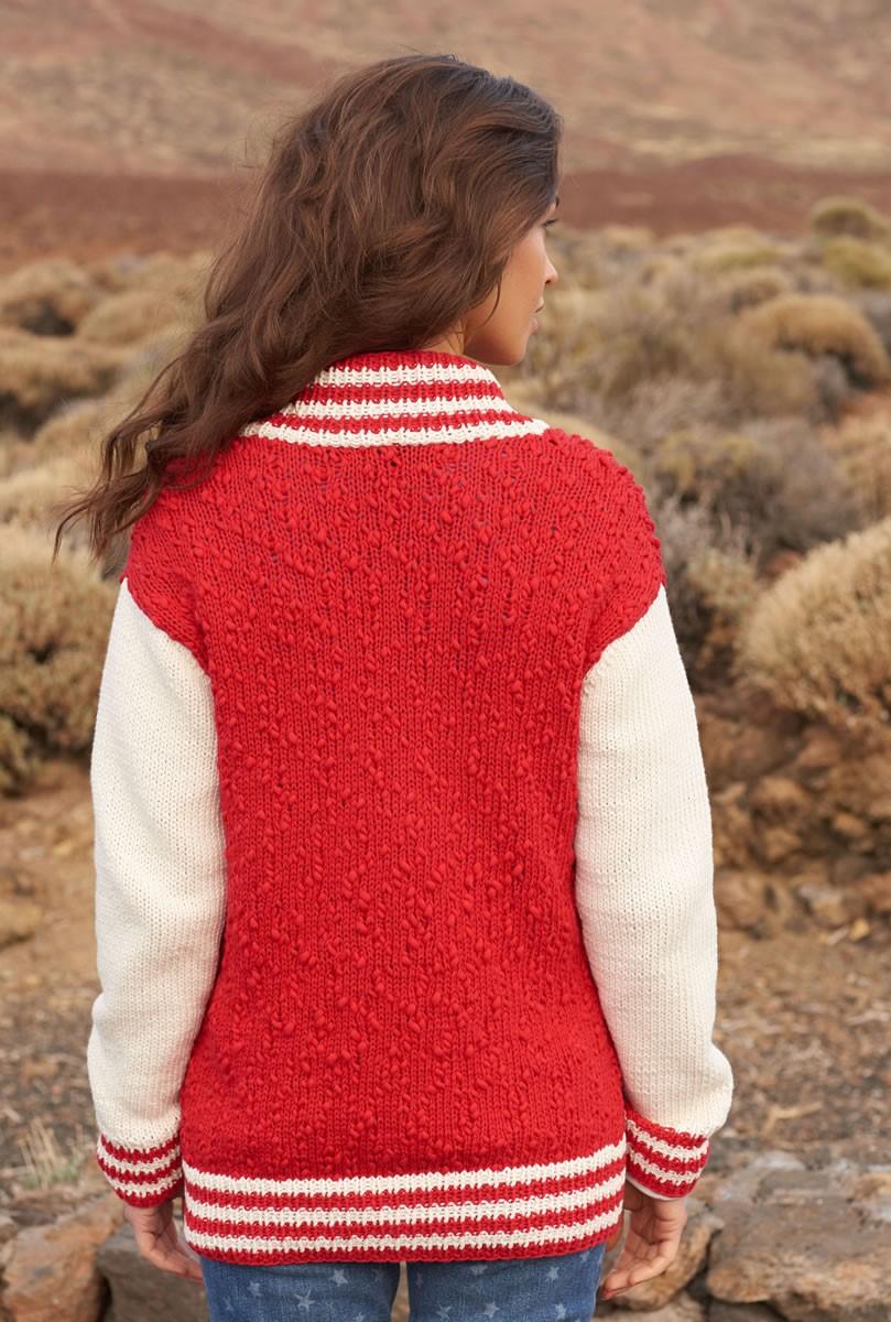 Lana Grossa VEST MET GESTREEPTE BIEZEN EN ZAKKEN Cotton Style/Only Cotton