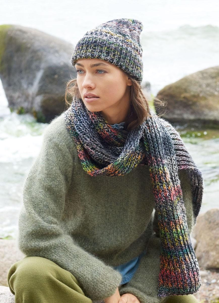 Lana Grossa SJAAL IN PATENTPATROON Gomitolo 200/Cool Wool