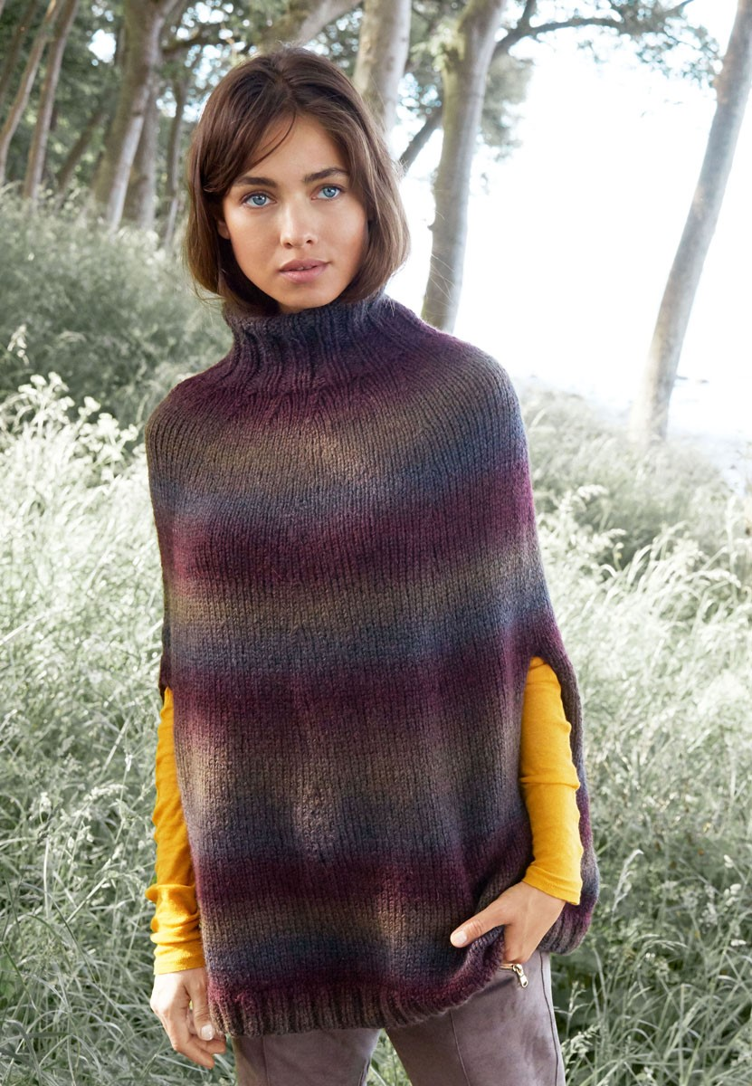 Lana Grossa PONCHO IN TRICOTSTEEK Super Color