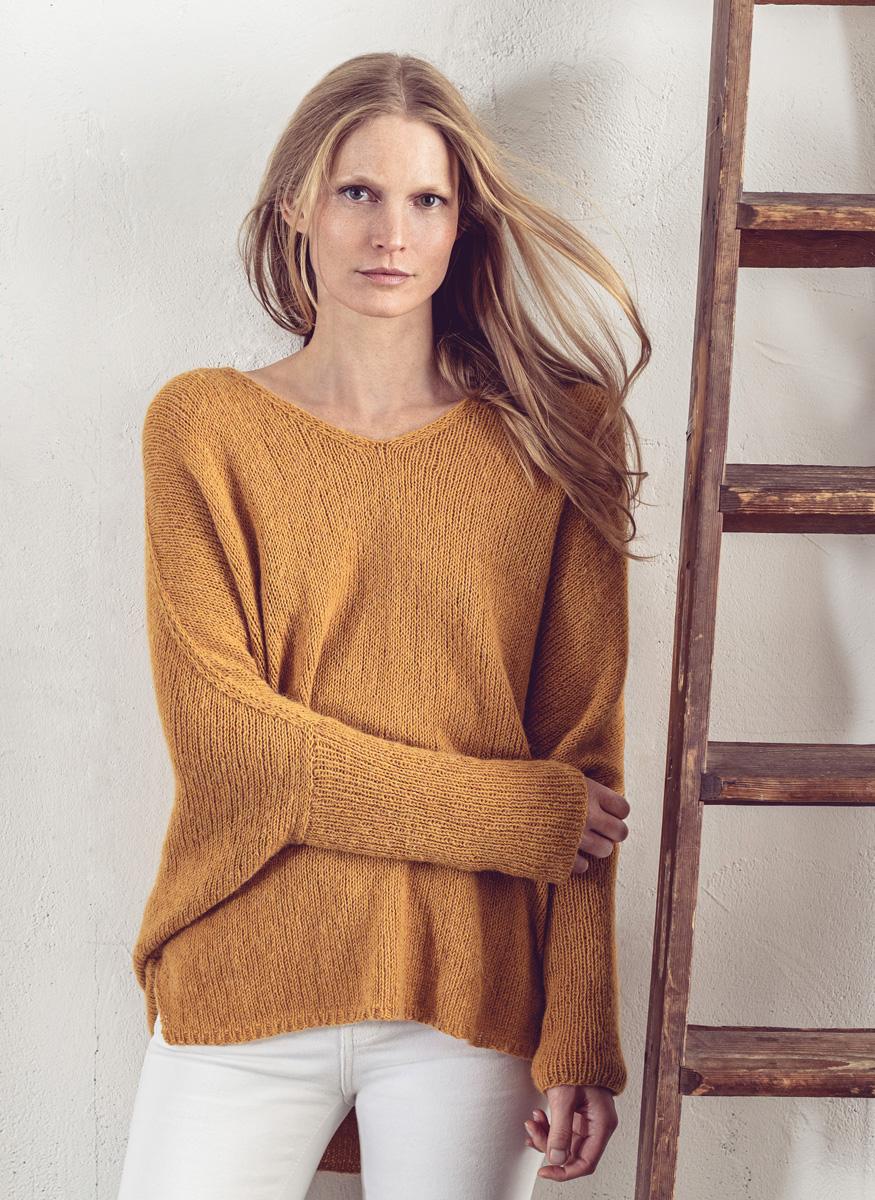Lana Grossa kleuren trui breien van Ecopuno uit Lookbook 8