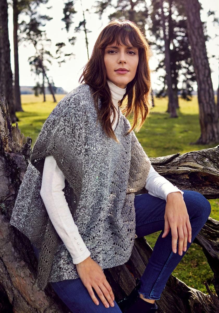 Lana Grossa SCHOUDEDOEK/KORTE PONCHO Shades of Alpaca Silk
