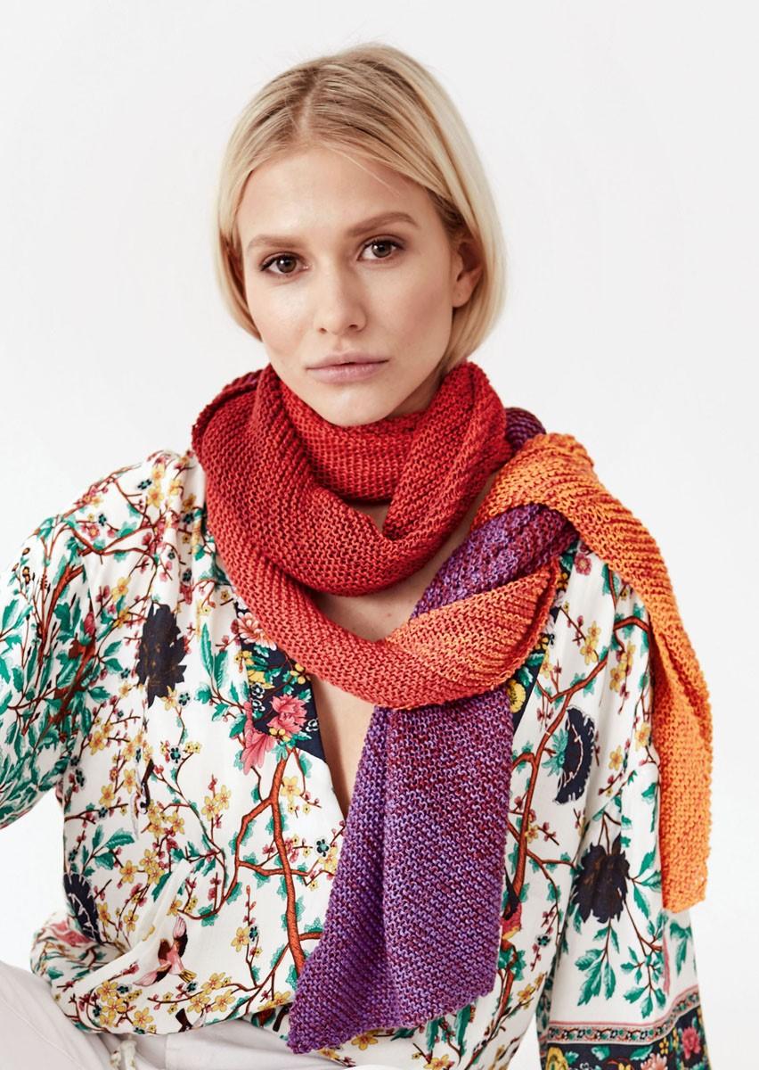 Lana Grossa DIAGONALE SJAAL Shades of Cotton