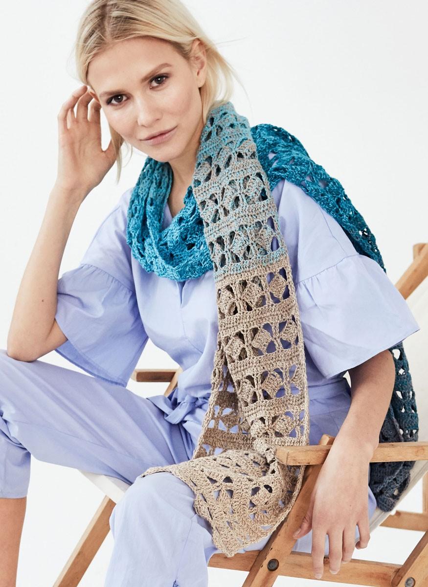 Lana Grossa SMALLE SJAAL Shades of Cotton