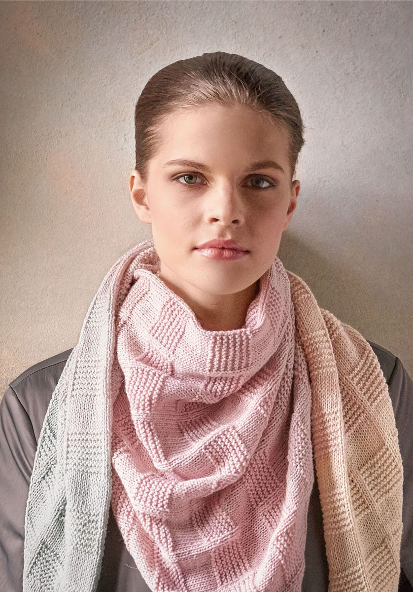 Lana Grossa OMSLAGDOEK Shades of Merino Cotton