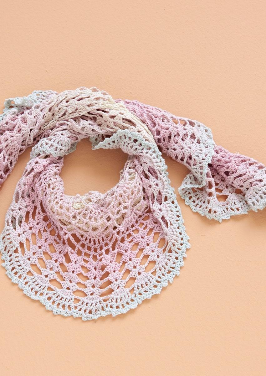 Lana Grossa Halbrundes Tuch Shades of Merino Cotton
