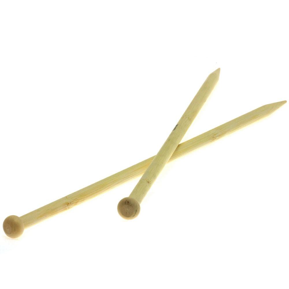 Lana Grossa Breinaalden met Knop Bamboe dikte10,0
