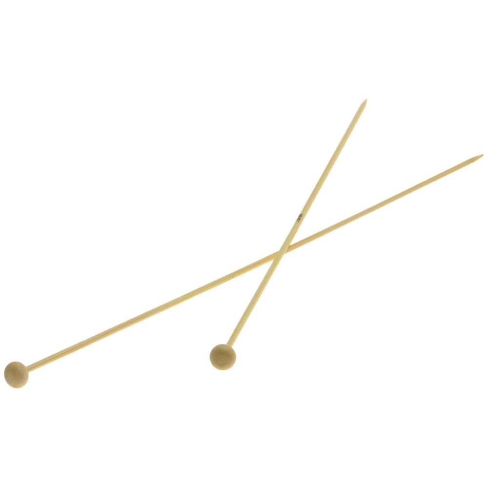 Lana Grossa Breinaalden met Knop Bamboe dikte 3,0