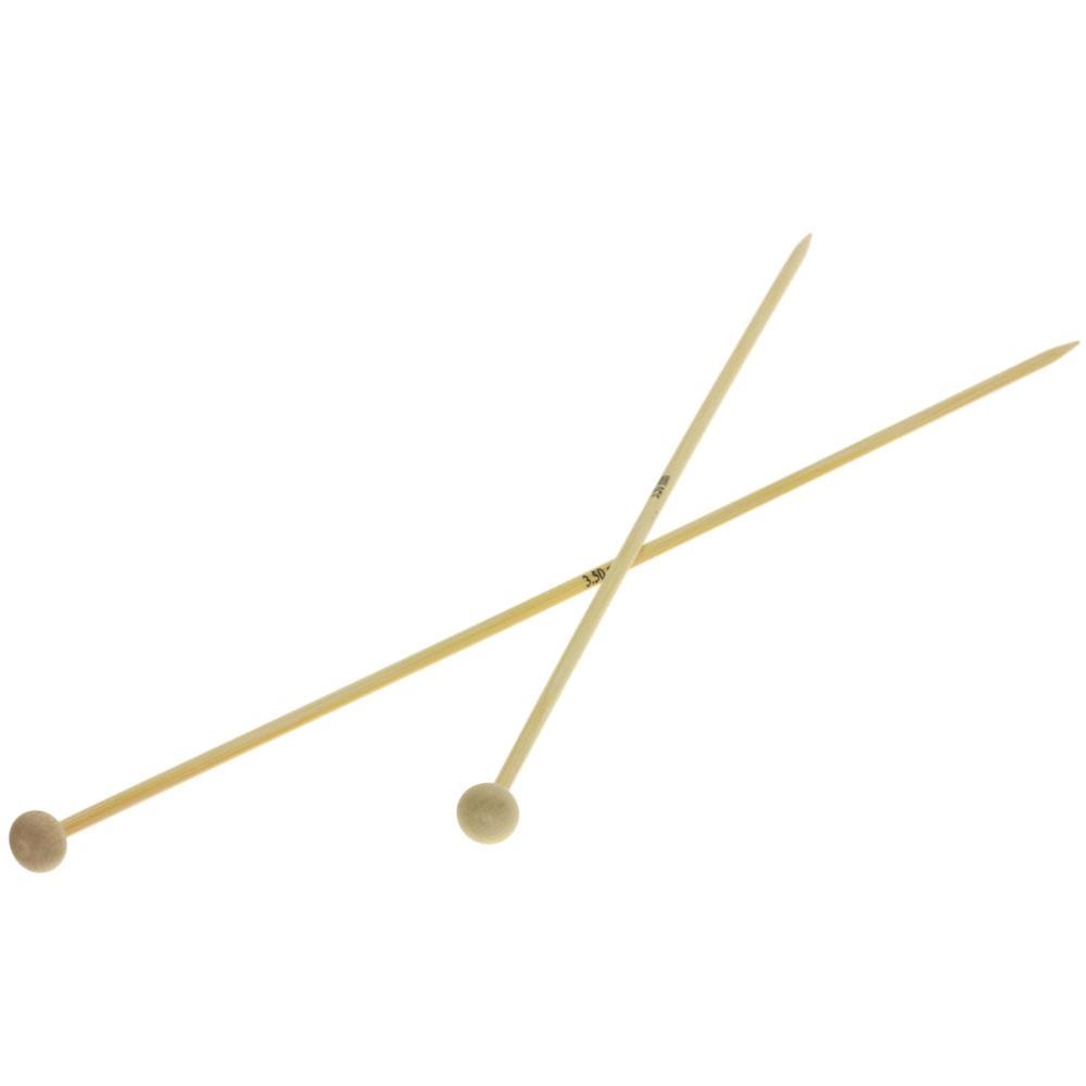 Lana Grossa Breinaalden met Knop Bamboe dikte 3,5